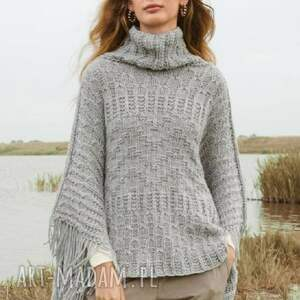 poncho austin, poncho, sweter, kaszmir, luksusowe, prezent, ręczna