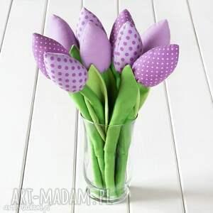 pomysły na prezenty święta TULIPANY wrzosowy bawełniany bukiet, tulipany, bukiet