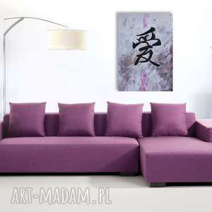 chiński znak miłości - akryl na płótnie artystki adriany laube, fengshui