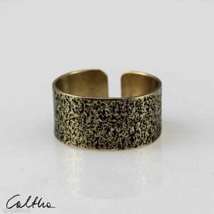 piasek - mosiężny pierścionek 130620 -06 #