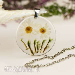 z1292 naszyjnik z prawdziwym kwiatem-5cm, naszyjnik-z-kwiatem, bizuteria-z-zywicy
