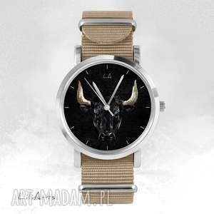liliarts zegarek, bransoletka - byk beżowy, nato, bransoletka