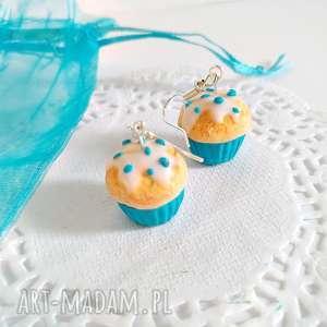 Kolczyki babeczki waniliowe - ,kolczyki,babeczki,muffinka,muffin,ciasteczko,biżuteria,