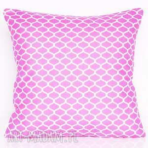 hand-made poduszki poduszka bawełnina marokańska koniczynka fuksja 40x40cm