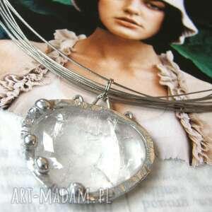 ręcznie zrobione naszyjniki naszyjnik: z naturalnym kryształem górskim