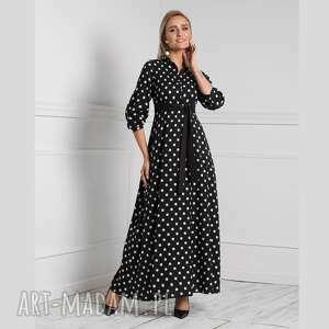 Sukienka alana maxi donata grochy duże sukienki livia clue