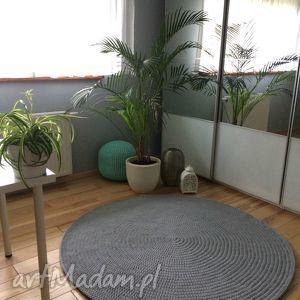 Okrągły dywan ze sznurka bawełnianego - 150 cm, dywan, okragły, sznurek, salon