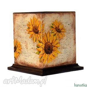 słoneczniki - pudełko na długopisy, decoupage, pudełko, przybornik, prezent