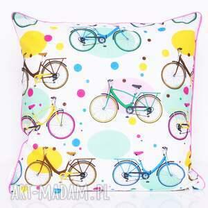 poduszki poduszka bawełnina rowery 40x40cm wyprzedaż, rowery