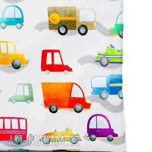 pokoik dziecka poduszka pikowana velvet cotton auta/szary, poduszka, dziecko