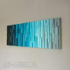 mozaika, obraz drewniany t8mt, loft, modern, natural, zen, rękodzieło
