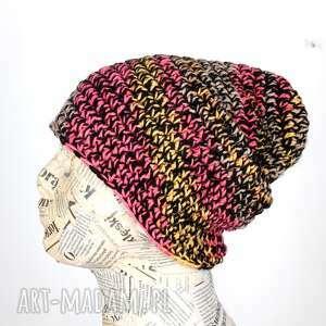 czapka beanie kolorowa unisex wełna 054, czapka, beanie, ciepła
