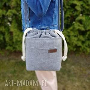 mini w szarościach z kominem, torba, torebka, crosserka, torebką na ramię