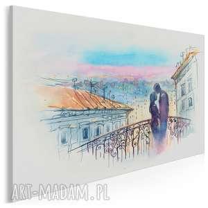 obraz na płótnie - most miłość kolorowy 120x80 cm 67101, most