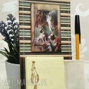 shiraja notes magnes na lodówkę - konie n9, konie, notatki, stajnia