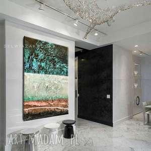 strukturalne marzenia - abstrakcyjne obrazy do modnego salonu, kolorowa