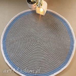 Okrągły dywan o średnicy 110 cm - Scandi, dywan, zesznurka, dekoracja, carpet