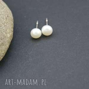 Kolczyki srebro 925 perła naturalna, kolczyki, srebrne, wkrętki, perły, naturalne