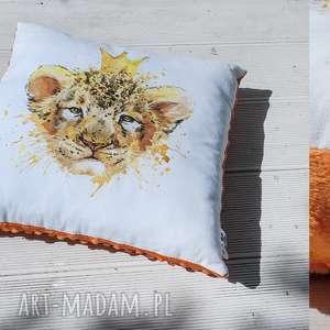 poduszka- król lew - poduszka, ozdoba, lew, prezent, minky