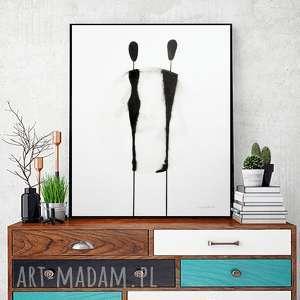 grafika grafika 40x50 cm wykonana ręcznie, plakat, abstrakcja, elegancki minimalizm, obraz do salonu