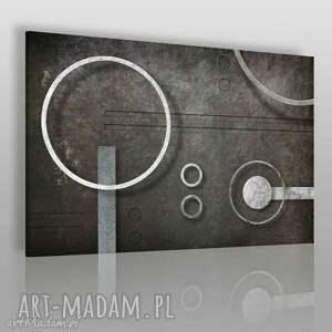 obraz na płótnie - abstrakcja koła 120x80 cm 26001 , koła, okręgi, geometria
