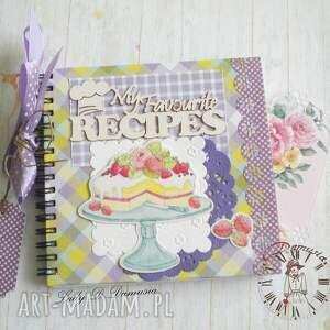 przepiśnik, zeszyt, książka, kucharska, tort, prezent