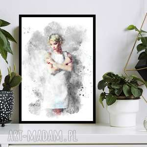 obraz w ramie anioł 1r - 73x52cm drukowany na płótnie designe, do salonu