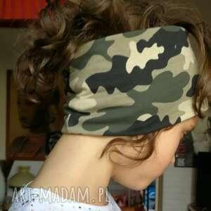 opaska dla dziewczynki - chłopca unisex na 5-8lat, podszewce,moro wojskowa