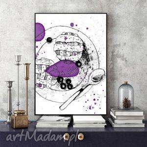 odrobina słodyczy ilustracja a4, kuchnia, deser, ilustracja, grafika, obraz