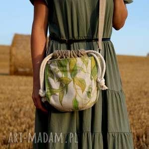 mikro iks sznurki lipa, len, vegan, torebka, torba, minimal, natura, pod choinkę