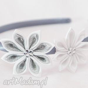 hand-made ozdoby do włosów opaska z kwiatuszkami dla dziewczynki