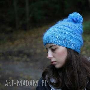 Czapka w odcieniach niebieskich melanż czapki kozaczka upominek