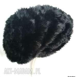 czapki czapka futrzana damska czarna boho zimowa - box 44- ciepła, stylowa