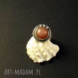 jedwab i lipcowy poranek, srebro, pierścionek, kamieńksiężycowy