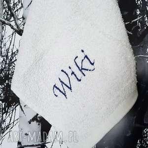 święta, ręczniczek z imieniem, ręcznik, haft, imię, łazienka