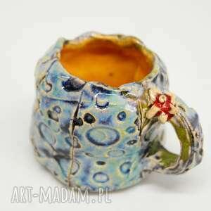 Mini kubeczek ceramika unikat handmade kubki iguana art kubek