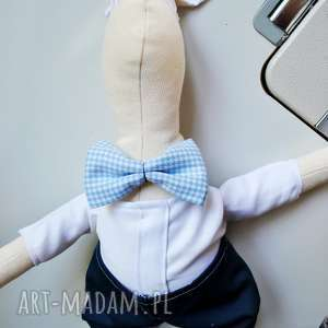 pan królik, prezent, lalka, chłopiec, szmaciana, tilda, podobieństwo, unikalny