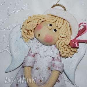 romantyczna dorotka - aniołek z masy solnej, anioły, dekoracja, prezent