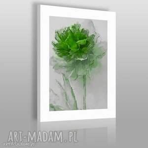 obraz na płótnie - kwiat emeraldowy - 50x70 cm 02005 - kwiat, obraz, artystyczny