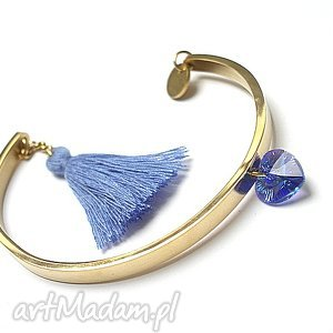 Alloys Collection - gold 7, stal, szlachetna, pozłacane, swarovski, chwost