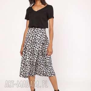 LANTI urban fashion! Rozkloszowana spódnica za kolano, sp119