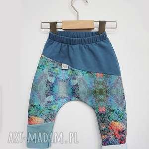Spodenki dla dziewczynki NIEBO 74-98 cm, spodnie-dresowe, spodnie-z-dzianiny