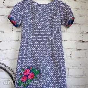 sukienki nowość sukienka folk design aneta larysa knap wiosna 2014 , ubrania