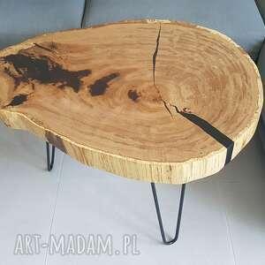 stoły stolik kawowy dębowy, stół, kawowy, żywica, salon, loft, desing