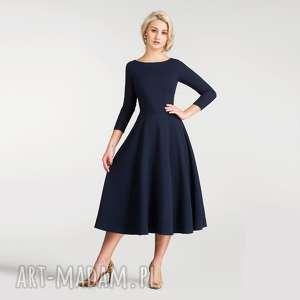 sukienki sukienka klara 3/4 total midi granat
