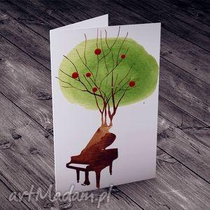 Zaczarowany Fortepian... karteczka, urodziny, imieniny, życzenia, kartka