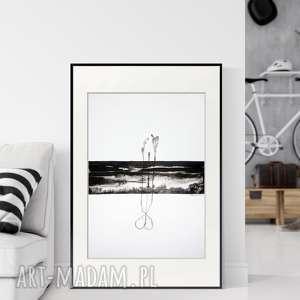 Grafika 50x70 cm wykonana ręcznie, plakat, abstrakcja, elegancki