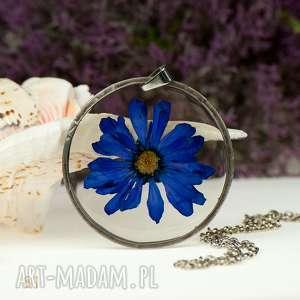naszyjnik z prawdziwym kwiatem z81 - naszyjnik z kwiatów, herbarium jewelry