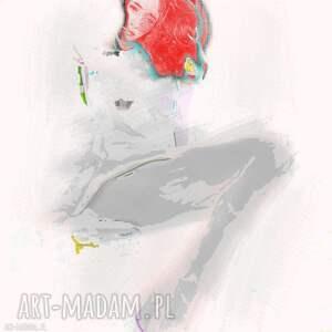 obraz na płótnie kobieta, szare rajstopy, 80 x 80, nowoczesny do salonu
