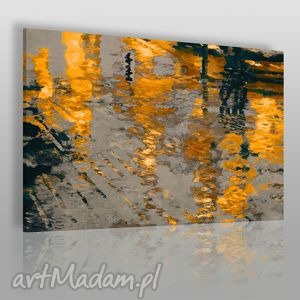 obraz na płótnie - abstrakcja odbicie - 120x80 cm 06003 - odbicie, ulica